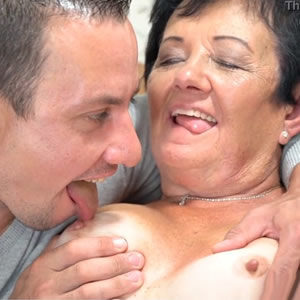 Grandmother and grandson fucking - free incest porn