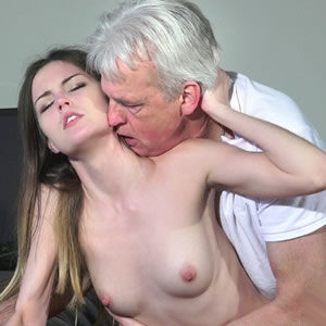 Grandpa and granddaughter fucking - Free incest porn
